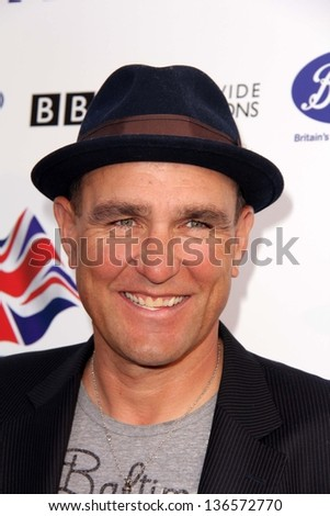"LOS ANGELES - APR 23:  Vinnie Jones arrives at the 7th Annual BritWeek Festival ""A Salute To Old Hollywood"" at the British Consul General's Residence on April 23, 2013 in Los Angeles, CA"