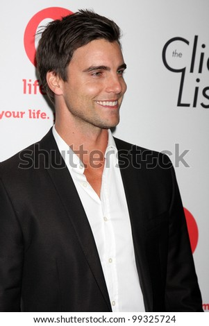 "LOS ANGELES - APRIL 4:  Colin Egglesfield arriving at the ""The Client List"" Launch Party at Sunset Tower Hotel on April 4, 2012 in West Hollywood, CA"