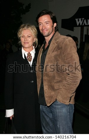 "LOS ANGELES - APRIL 27: Deborra-Lee Furness and Hugh Jackman at the Opening night of ""Salome"" at Wadsworth Theatre on April 27, 2006 in Los Angeles, CA."