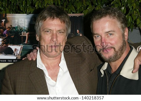 "LOS ANGELES - APRIL 11: Russell Smith and William L. Petersen at the premiere of ""Art School Confidential"" at Harmony Gold Preview House on April 11, 2006 in Los Angeles, CA."