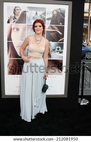 "LOS ANGELES - AUG 20:  Ali Milner at the ""If I Stay"" Premiere at TCL Chinese Theater on August 20, 2014 in Los Angeles, CA - stock photo"
