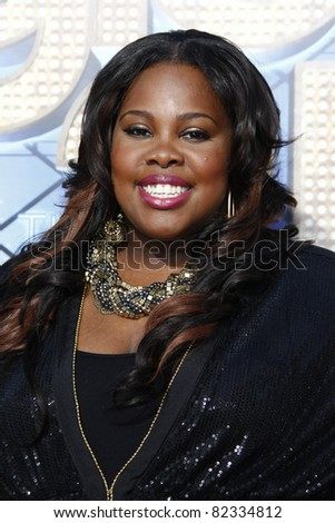 LOS ANGELES - AUG 6: Amber Riley at the premiere of Twentieth Century Fox's 'Glee The 3D Concert Movie' held at the Regency Village Theater on August 6, 2011 in Los Angeles, California