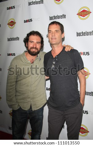 LOS ANGELES - AUG 23: Andrew Feltenstein, John Nau at the premiere of RADiUS-TWC's 'Bachelorette' at ArcLight Cinemas on August 23, 2012 in Los Angeles, California - stock photo