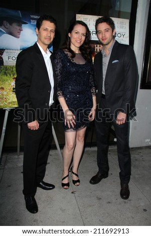 "LOS ANGELES - AUG 15:  Andy Hirsch, Kate Connor, Johnny Pacar at the ""Fort McCoy"" Premiere at Music Hall Theater on August 15, 2014 in Beverly Hills, CA"