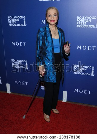 LOS ANGELES - AUG 14:  Anne Jeffreys arrives to the HFPA Annual Installation Dinner 2014 on August 14, 2014 in Beverly Hills, CA                 - stock photo