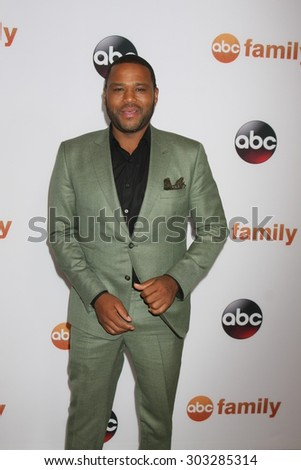 LOS ANGELES - AUG 4:  Anthony Anderson at the ABC TCA Summer Press Tour 2015 Party at the Beverly Hilton Hotel on August 4, 2015 in Beverly Hills, CA - stock photo