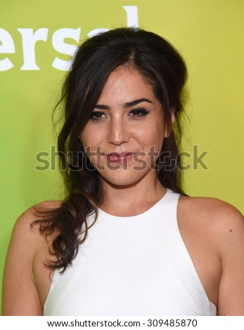 LOS ANGELES - AUG 12:  Audrey Esparza arrives to the arrives to the Summer 2015 TCA's - NBCUniversal  on August 12, 2015 in Beverly Hills, CA                 - stock photo