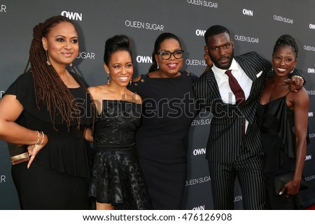 "LOS ANGELES - AUG 29:  Ava DuVernay, Dawn-Lyen Gardner, Oprah Winfrey, Kofi Siriboe, Rutina Wesley at the Premiere of ""Queen Sugar"" at the Warner Brothers Studios on August 29, 2016 in Burbank, CA"