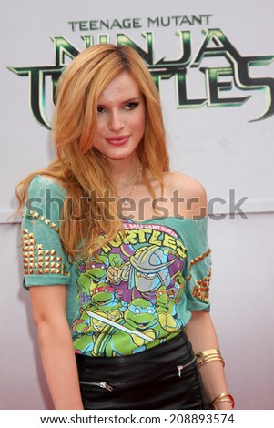 LOS ANGELES - AUG 3:  Bella Thorne at the Teenage Mutant Ninja Turtles Premiere at the Village Theater on August 3, 2014 in Westwood, CA