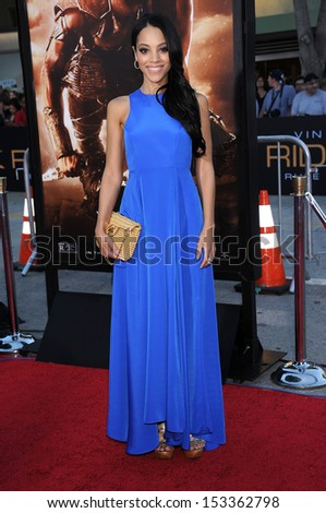 """LOS ANGELES - AUG 28:  Bianca Lawson arrives to """"Riddick"""" Los Angeles Premiere  on August 28, 2013 in Westwood, CA                 - stock photo"""