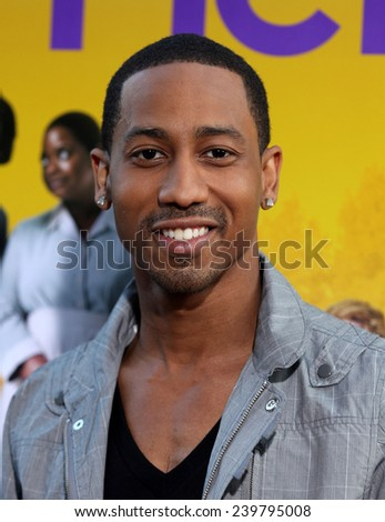 "LOS ANGELES - AUG 09:  BRANDON T. JACKSON arrives to the ""The Help"" World Premiere  on August 09, 2011 in Beverly Hills, CA                 - stock photo"