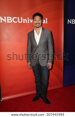 LOS ANGELES - AUG 13:  Brian Tee at the NBCUniversal 2015 TCA Summer Press Tour at the Beverly Hilton Hotel on August 13, 2015 in Beverly Hills, CA - stock photo