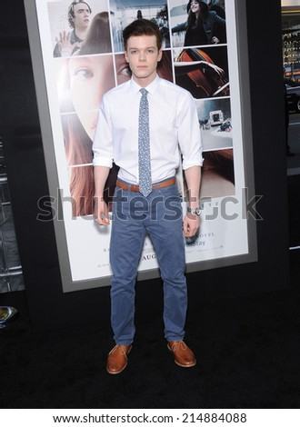 LOS ANGELES - AUG 20:  Cameron Monaghan arrives to the 'If I Stay' Hollywood Premiere  on August 20, 2014 in Hollywood, CA