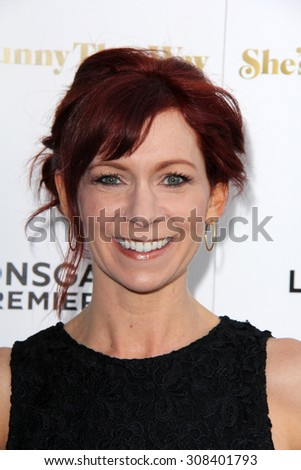 "LOS ANGELES - AUG 19:  Carrie Preston at the ""She's Funny That Way"" Red Carpet Premiere at the Harmony Gold Theater on August 19, 2015 in Los Angeles, CA"