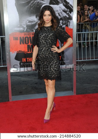 "LOS ANGELES - AUG 13:  Caterina Scorsone arrives to the ""The November Man"" World Premiere  on August 13, 2014 in Hollywood, CA.                 - stock photo"