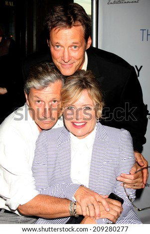 "LOS ANGELES - AUG 4:  Charles Shaughnessy, Mary Beth Evans, Matthew Ashford at the ""The Bay"" Red Carpet Extravaganza at the Open Air Kitchen + Bar on August 4, 2014 in West Hollywood, CA"