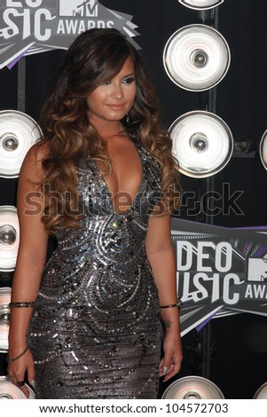 LOS ANGELES - AUG 28:  Demi Lovato arriving at the  2011 MTV Video Music Awards at the LA Live on August 28, 2011 in Los Angeles, CA