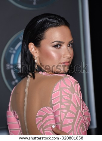 LOS ANGELES - AUG 30:  Demi Lovato 2015 MTV Video Music Awards - Arrivals  on August 30, 2015 in Hollywood, CA                 - stock photo