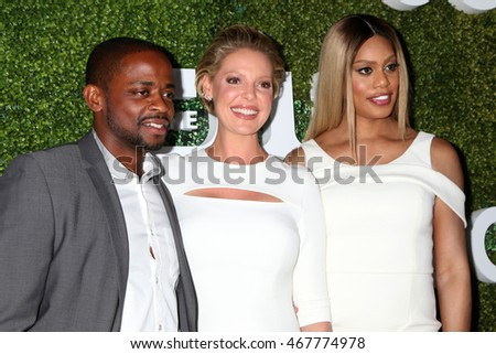 LOS ANGELES - AUG 10:  Dule Hill, Katherine Heigl, Laverne Cox at the CBS, CW, Showtime Summer 2016 TCA Party at the Pacific Design Center on August 10, 2016 in West Hollywood, CA
