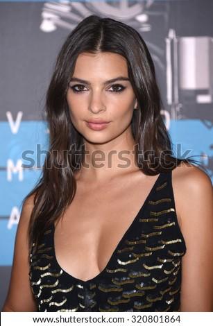 LOS ANGELES - AUG 30:  Emily Ratajkowski 2015 MTV Video Music Awards - Arrivals  on August 30, 2015 in Hollywood, CA                 - stock photo