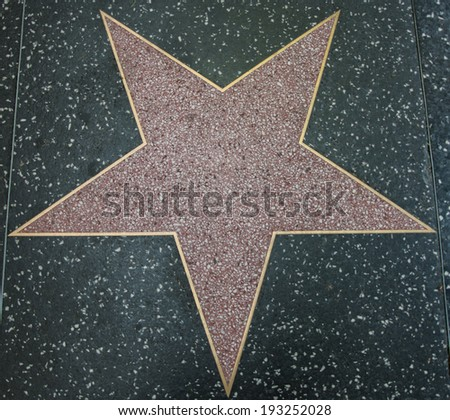 LOS ANGELES - AUG 23 Empty Hollywood Star you can add your name here on AUGUST 23, 2013 in Los Angeles, USA.