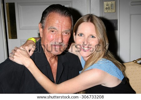 "LOS ANGELES - AUG 15:  Eric Braeden, Lauralee Bell at the ""The Young and The Restless"" Fan Club Event at the Universal Sheraton Hotel on August 15, 2015 in Universal City, CA"
