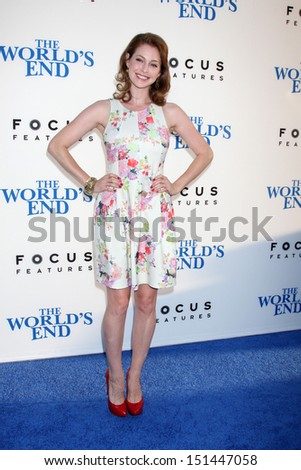 "LOS ANGELES - AUG 21:  Esme Bianco at ""The World's End"" Premiere at the ArcLight Hollywood Theaters on August 21, 2013 in Los Angeles, CA"
