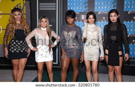 LOS ANGELES - AUG 30:  Fifth Harmony 2015 MTV Video Music Awards - Arrivals  on August 30, 2015 in Hollywood, CA                 - stock photo