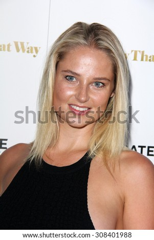 "LOS ANGELES - AUG 19:  Genevieve Morton at the ""She's Funny That Way"" Red Carpet Premiere at the Harmony Gold Theater on August 19, 2015 in Los Angeles, CA"