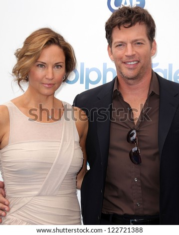 "LOS ANGELES - AUG 16:  HARRY CONNICK JR. & JILL GOODACRE arriving to ""Dolphin Tale"" World Premiere  on August 16, 2012 in Westwood, CA"