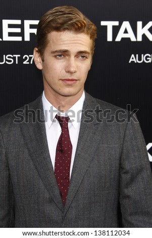 LOS ANGELES - AUG 4: Hayden Christensen at the World Premiere of Takers, held at the Arclight Cinerama Dome in Los Angeles, California on 4 August 2010 - stock photo