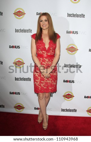 LOS ANGELES - AUG 23: Isla Fisher at the premiere of RADiUS-TWC's 'Bachelorette' at ArcLight Cinemas on August 23, 2012 in Los Angeles, California - stock photo