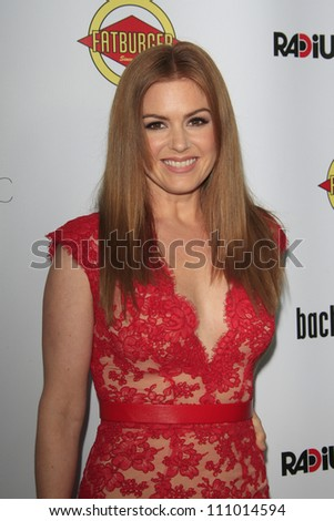LOS ANGELES - AUG 23: Isla Fisher at the premiere of RADiUS-TWC's 'Bachelorette' at ArcLight Cinemas on August 23, 2012 in Los Angeles, California