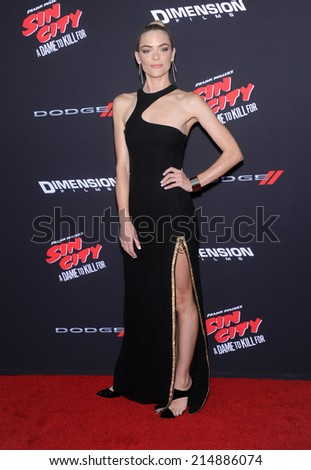 """LOS ANGELES - AUG 19:  Jaime King arrives to the """"Sin City: A Dame To Kill For"""" Los Angeles Premiere  on August 19, 2014 in Hollywood, CA                 - stock photo"""