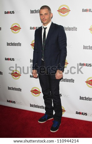 LOS ANGELES - AUG 23: James Marsden at the premiere of RADiUS-TWC's 'Bachelorette' at ArcLight Cinemas on August 23, 2012 in Los Angeles, California - stock photo