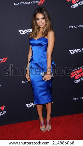 """LOS ANGELES - AUG 19:  Jessica Alba arrives to the """"Sin City: A Dame To Kill For"""" Los Angeles Premiere  on August 19, 2014 in Hollywood, CA                 - stock photo"""