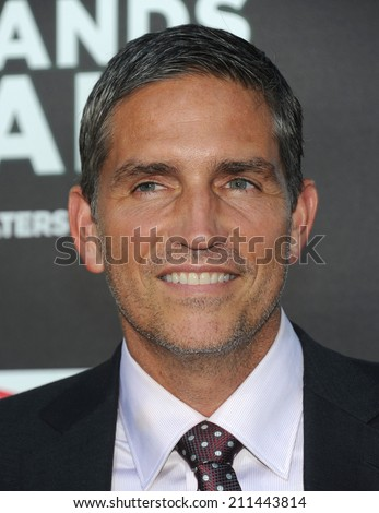 "LOS ANGELES - AUG 04:  Jim Caviezel arrives to the ""When The Game Stands Tall"" World Premiere  on August 04, 2014 in Hollywood, CA."