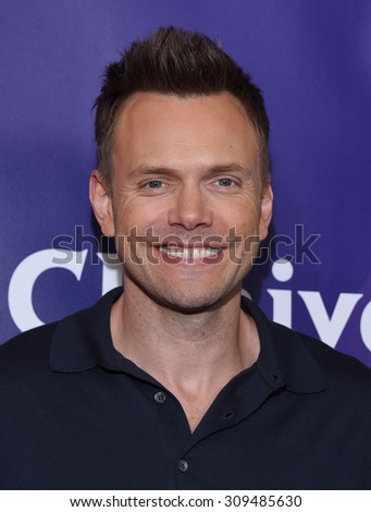 LOS ANGELES - AUG 12:  Joel McHale arrives to the arrives to the Summer 2015 TCA's - NBCUniversal  on August 12, 2015 in Beverly Hills, CA                 - stock photo