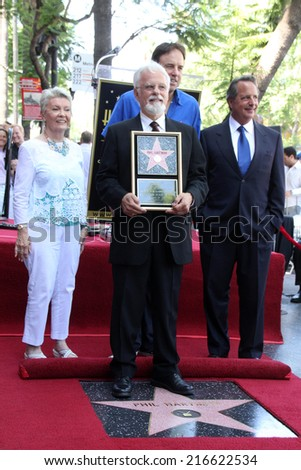 LOS ANGELES - AUG 26:  John Hartman at the Phil Hartman Posthumous Star on the Walk of Fame at Hollywood Blvd on August 26, 2014 in Los Angeles, CA - stock photo