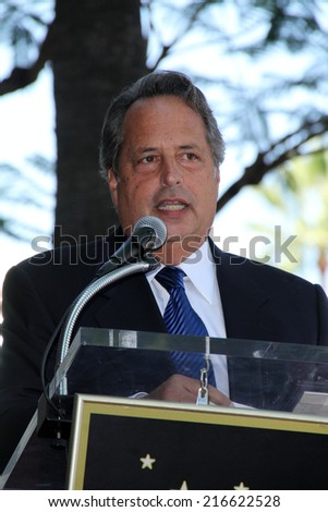 LOS ANGELES - AUG 26:  Jon Lovitz at the Phil Hartman Posthumous Star on the Walk of Fame at Hollywood Blvd on August 26, 2014 in Los Angeles, CA - stock photo