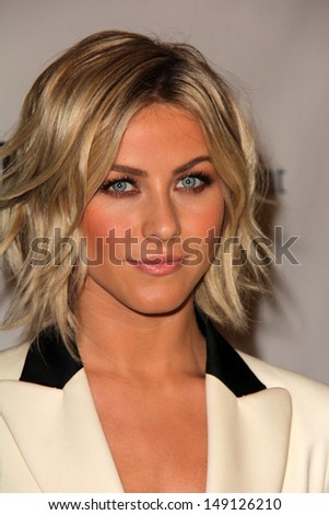 "LOS ANGELES - AUG 6:  Julianne Hough arrives at the DirecTV Premiere of ""Paradise""  at the Chinese 6 Theaters on August 6, 2013 in Los Angeles, CA - stock photo"