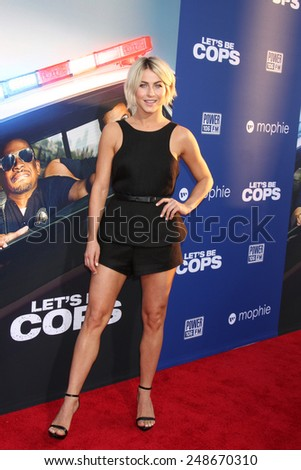 "LOS ANGELES - AUG 7:  Julianne Hough at the ""Let's Be Cops"" Premiere at the ArcLight Hollywood Theaters on August 7, 2014 in Los Angeles, CA  - stock photo"