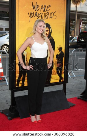 "LOS ANGELES - AUG 20:  Kirby Bliss Banton at the ""We are Your Friends"" Los Angeles Premiere at the TCL Chinese Theater on August 20, 2015 in Los Angeles, CA - stock photo"