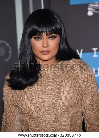LOS ANGELES - AUG 30:  Kylie Jenner 2015 MTV Video Music Awards - Arrivals  on August 30, 2015 in Hollywood, CA                 - stock photo