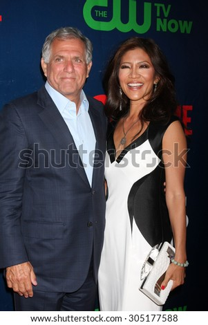 LOS ANGELES - AUG 10:  Les Moonves, Julie Chen at the CBS TCA Summer 2015 Party at the Pacific Design Center on August 10, 2015 in West Hollywood, CA - stock photo