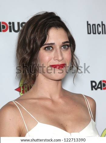 "LOS ANGELES - AUG 23:  Lizzy Caplan ""Bachelorette"" Los Angeles Premiere  on August 23, 2012 in Hollywood, CA - stock photo"