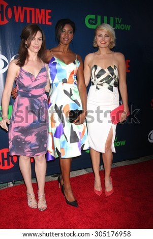 LOS ANGELES - AUG 10:  Maggie Siff, Condola Rashad, Malin Akerman at the CBS TCA Summer 2015 Party at the Pacific Design Center on August 10, 2015 in West Hollywood, CA - stock photo