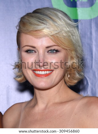 LOS ANGELES - AUG 10:  Malin Akerman arrives to the Summer 2015 TCA's - CBS, The CW & Showtime  on August 10, 2015 in West Hollywood, CA                 - stock photo