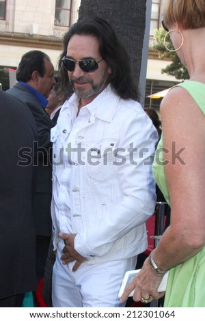 LOS ANGELES - AUG 21:  Marco Antonio Solis at the Los Tigres Del Norte Honored On The Hollywood Walk Of Fame at Live Nation Building on August 21, 2014 in Los Angeles, CA - stock photo