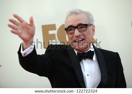 LOS ANGELES - AUG 11:  Martin Scorsese arriving to Emmy Awards 2011  on August 11, 2012 in Los Angeles, CA - stock photo